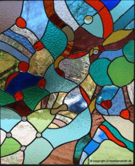 Paradis 2 -blyindfattet glas, 61x50 cm