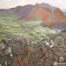 Lavamark -olie på lærred, 70x90 cm