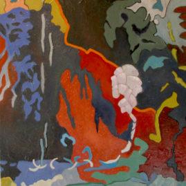 Little Canyon -olie på lærred, 60x50 cm