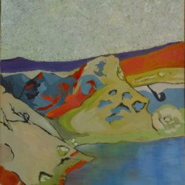 By the Lake (no 1) olie på lærred, 80x60 cm