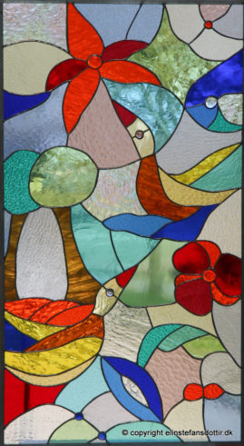 Rite of Spring -blyindfattet glas, 125x65 cm
