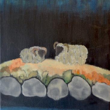Fjelddronninger, oliemaleri -40x30 cm